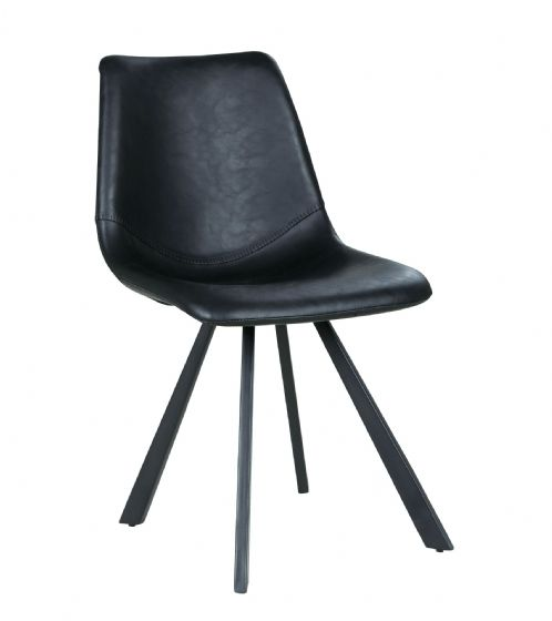 Ruth Faux Leather Dining Chair - Pair - UK Mainland Deivery